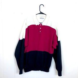 Vintage Footlocker Colour Block Sweater Sz L